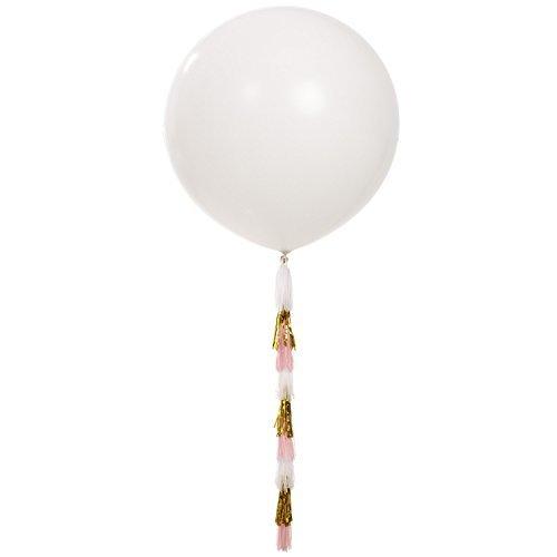 Riesen_Luftballon_weiß_tassle