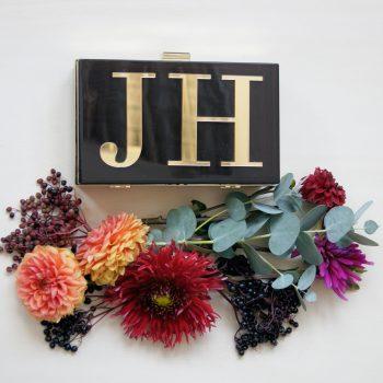 Amber personalisierte Clutch JH . Die Macherei