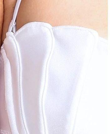 Bikini-Muschel-weiß-naht