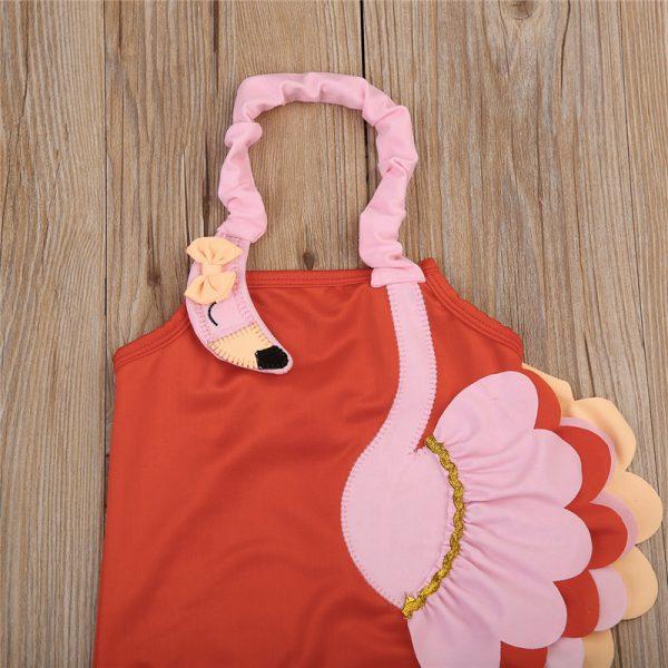 Kinderbadeanzug-Flamingo-Details