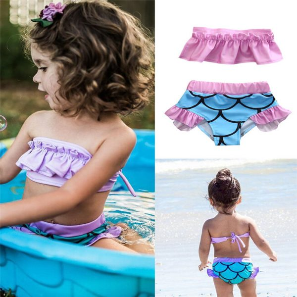 Kinderbikini-Meerjungfrau-Macherei-collage