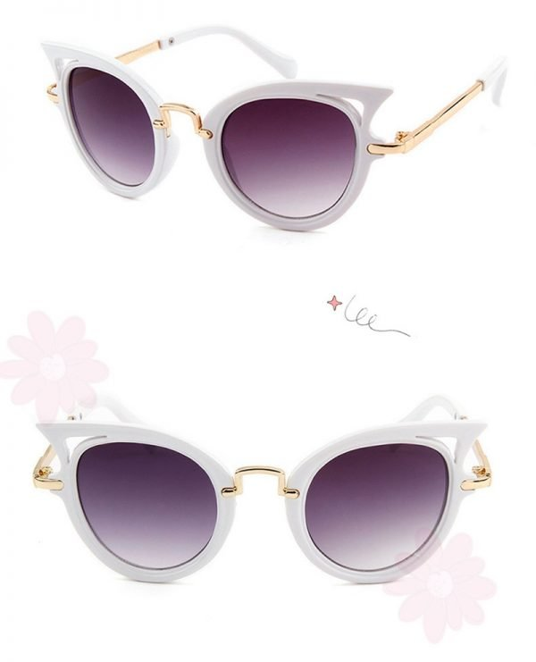 Kindersonnenbrille-cateyes-weiss