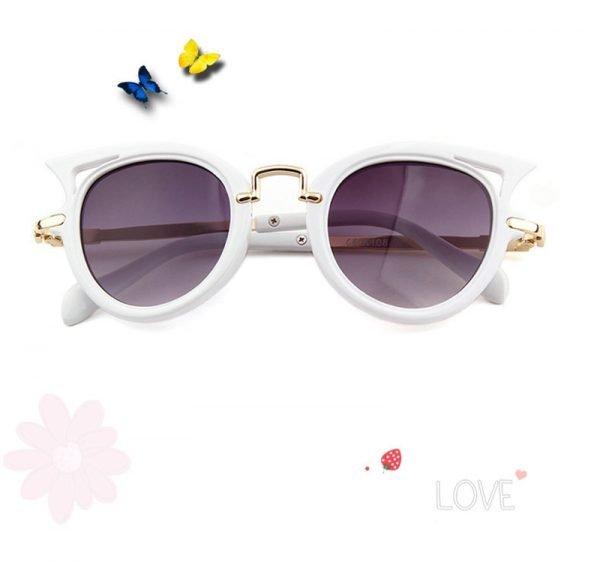 Kindersonnenbrille-cateyes-weiss-details
