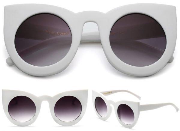 Sonnebrille-Cateyes-weiss-details