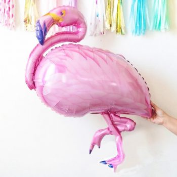 Folienballon Flamingo rosa pink für tropical Party von Die Macherei