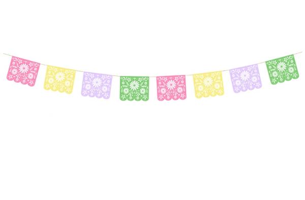 Dia de los muertos Girlande multicolor