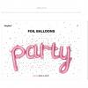 Ballon Schriftzug Party Rosa. Die Macherei