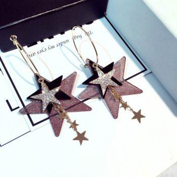 Sparkle Stars Glitter Ohrringe. Die Macherei