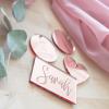 Acryl Platzkarte, placecards aus roséfarbenem Acryl. Die Macherei