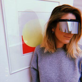 Sonnebrille Space Shield personalisierbar. Die Macherei