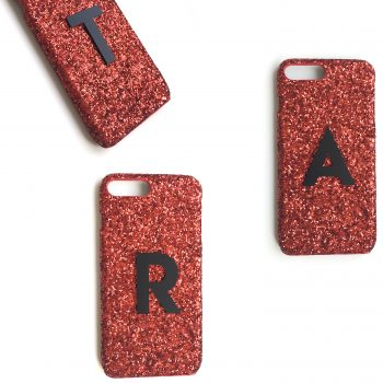 IPhone Hülle Ruby Sparkle personalisierbar. Die Macherei