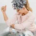 Bedazzling statement headpiece metallic