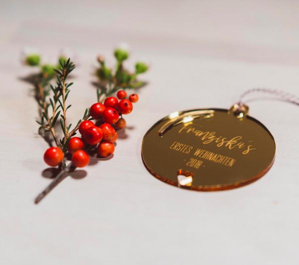 """Acryl Weihnachtsschmuck """" Mein erstes Weihnachten"""""""