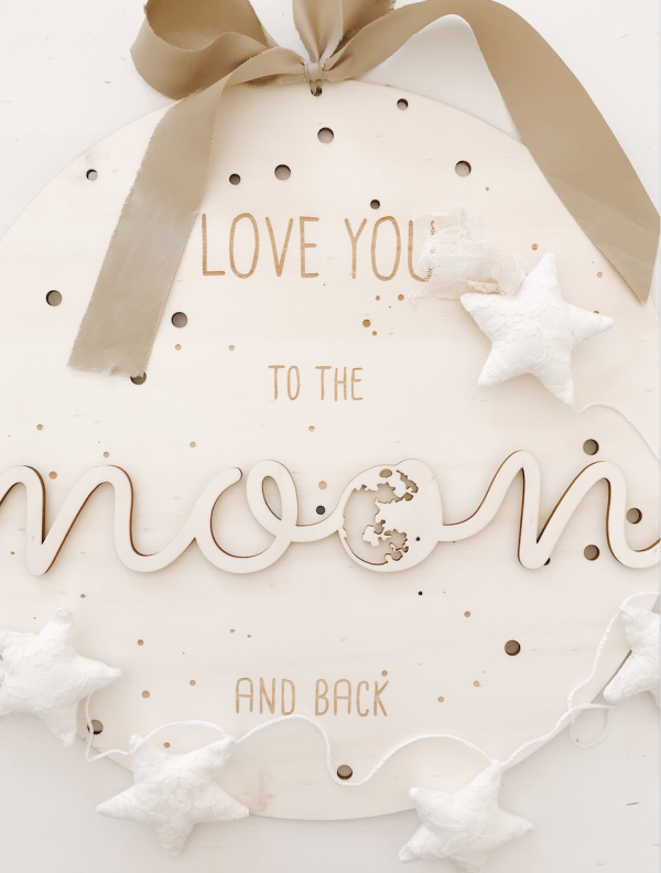 Love you to the moon and back Schild 4