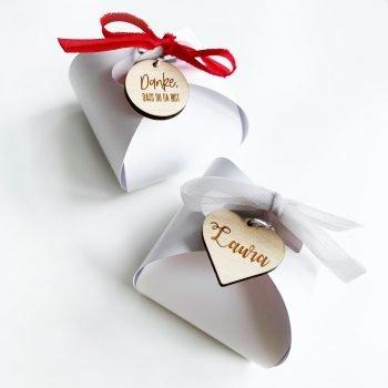 Geschenkverpackung Würfel romantic. Die Macherei