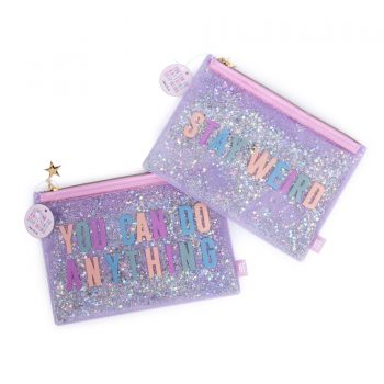 Glitter mssage clutch Die Macherei