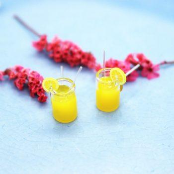 Ohrstecker Orangensaft