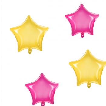 Stern Folienballon durchsichtig 2 Farben